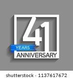 41 years anniversary...   Shutterstock .eps vector #1137617672