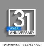 31 years anniversary...   Shutterstock .eps vector #1137617732
