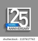 25 years anniversary... | Shutterstock .eps vector #1137617762