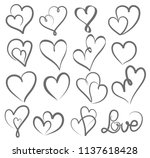 big set valentines day hand... | Shutterstock .eps vector #1137618428