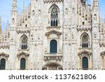 the cathedral of milan italy  ... | Shutterstock . vector #1137621806