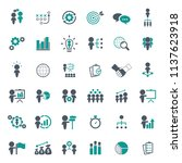 business strategy icons set. | Shutterstock .eps vector #1137623918