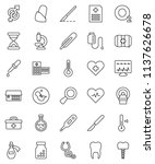 thin line vector icon set  ... | Shutterstock .eps vector #1137626678
