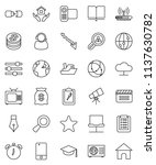 thin line vector icon set  ... | Shutterstock .eps vector #1137630782