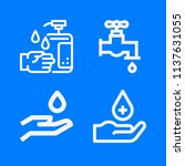 set of 4 water outline icons...   Shutterstock . vector #1137631055