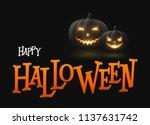 banner cartoon halloween... | Shutterstock .eps vector #1137631742