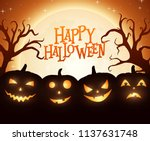 banner cartoon halloween... | Shutterstock .eps vector #1137631748