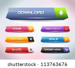 vector web buttons | Shutterstock .eps vector #113763676