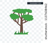 tree vector icon isolated on... | Shutterstock .eps vector #1137638462