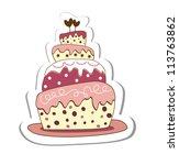 cake | Shutterstock .eps vector #113763862