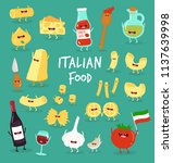set of different types of pasta ... | Shutterstock .eps vector #1137639998