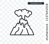 eruption vector icon isolated... | Shutterstock .eps vector #1137641018