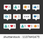 feedback social media... | Shutterstock .eps vector #1137641675