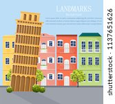 italy cityscape architecture... | Shutterstock .eps vector #1137651626