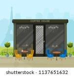 modern coffee house vector.... | Shutterstock .eps vector #1137651632
