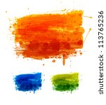 colorful watercolor banners.... | Shutterstock .eps vector #113765236