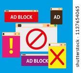 Ad Block Popup Illustration...