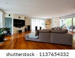 modern living room with large... | Shutterstock . vector #1137654332