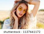 outdoor lifestyle portrait of...   Shutterstock . vector #1137661172