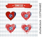 tennessee heart with flag... | Shutterstock .eps vector #1137664682