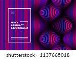 wave lines pattern. trendy... | Shutterstock .eps vector #1137665018