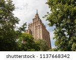 building of latvian academy of... | Shutterstock . vector #1137668342