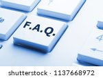 faq or frequently asked... | Shutterstock . vector #1137668972