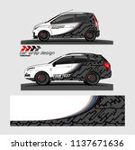vehicle graphic kit. abstract... | Shutterstock .eps vector #1137671636