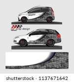 vehicle graphic kit. abstract... | Shutterstock .eps vector #1137671642
