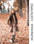 pretty kid girl 4 5 year old...   Shutterstock . vector #1137673952