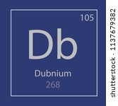 dubnium db chemical element... | Shutterstock .eps vector #1137679382