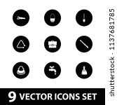 handle icon. collection of 9... | Shutterstock .eps vector #1137681785