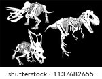 graphical set  of dinosaur... | Shutterstock .eps vector #1137682655