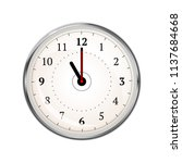 realistic clock face showing 11 ... | Shutterstock .eps vector #1137684668