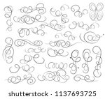 calligraphic elegant elements... | Shutterstock .eps vector #1137693725