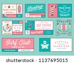 colored surf badges vol. 2  is... | Shutterstock .eps vector #1137695015