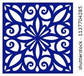 ceramic decorative tile  navy...   Shutterstock .eps vector #1137704285