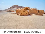 the desert next to yazd boasts... | Shutterstock . vector #1137704828