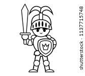 coloring book for children ... | Shutterstock .eps vector #1137715748