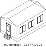 building and house vector | Shutterstock .eps vector #1137717326