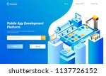 mobile app development platform ... | Shutterstock .eps vector #1137726152