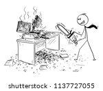 cartoon stick man drawing... | Shutterstock .eps vector #1137727055