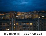 aerial view of town with... | Shutterstock . vector #1137728105