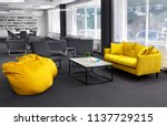 creative space.with yellow sofa ... | Shutterstock . vector #1137729215