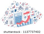 calculator with earnings growth ...   Shutterstock .eps vector #1137737402