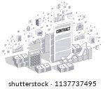 financial contract concept ... | Shutterstock .eps vector #1137737495