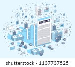 contract sheet paper legal... | Shutterstock .eps vector #1137737525