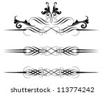vector floral design elements | Shutterstock .eps vector #113774242