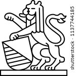 coat of arms of zurich district ... | Shutterstock .eps vector #1137744185