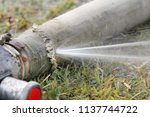 expired fire hose   water... | Shutterstock . vector #1137744722